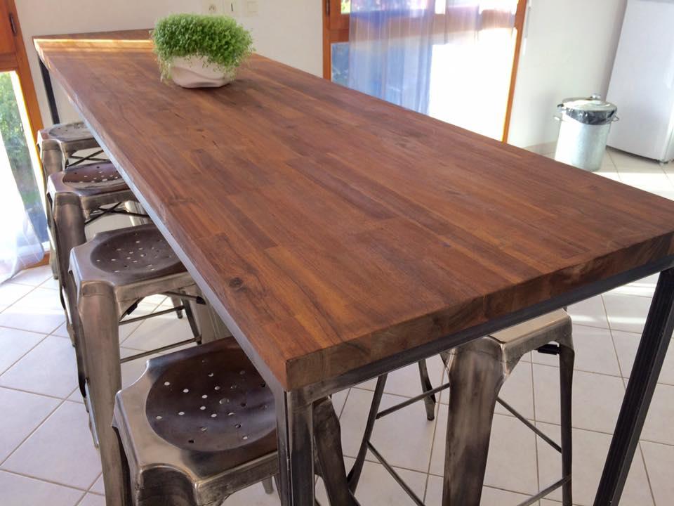 table haute 200 loft industeel. Black Bedroom Furniture Sets. Home Design Ideas