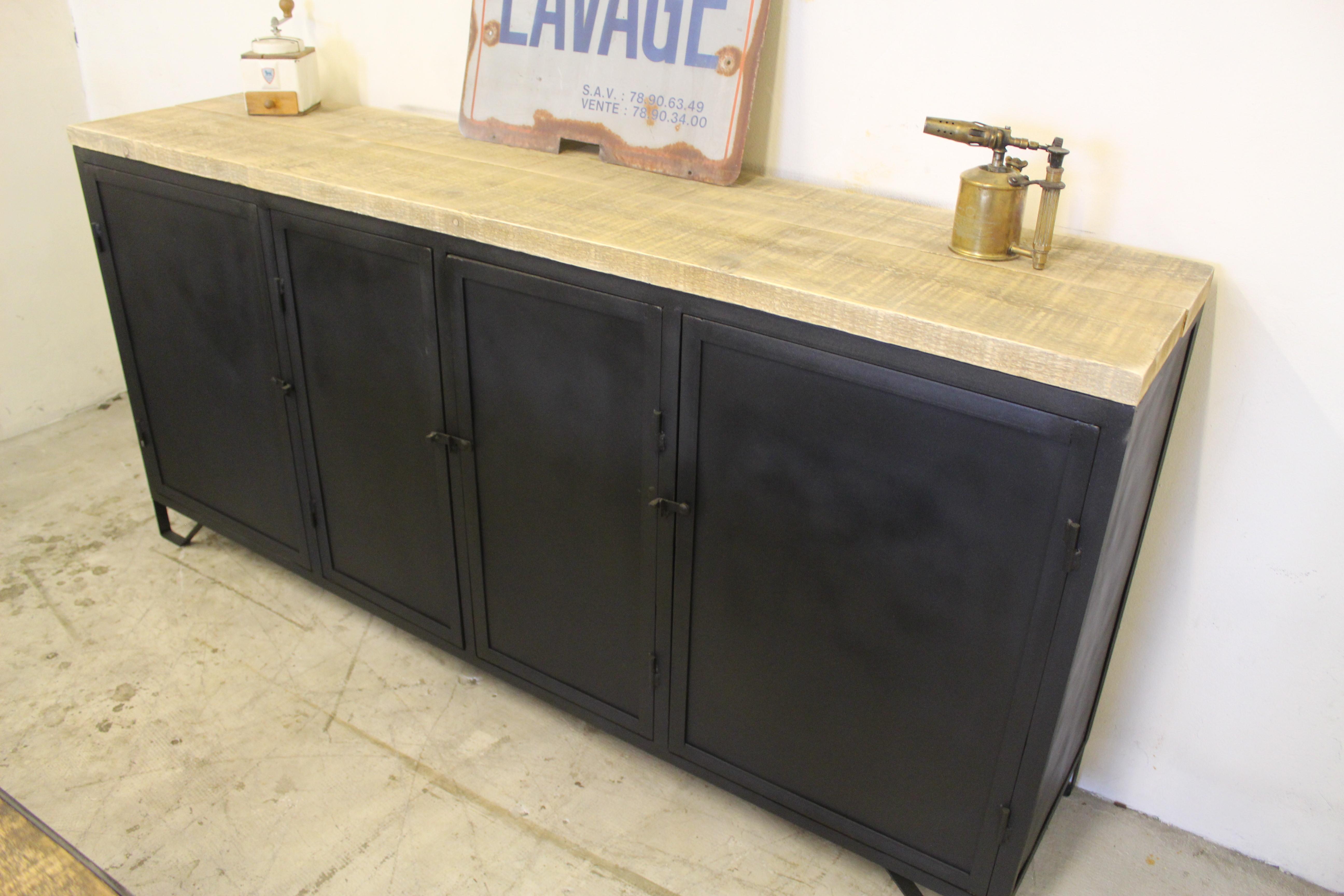 enfilade industriel loft industeel. Black Bedroom Furniture Sets. Home Design Ideas