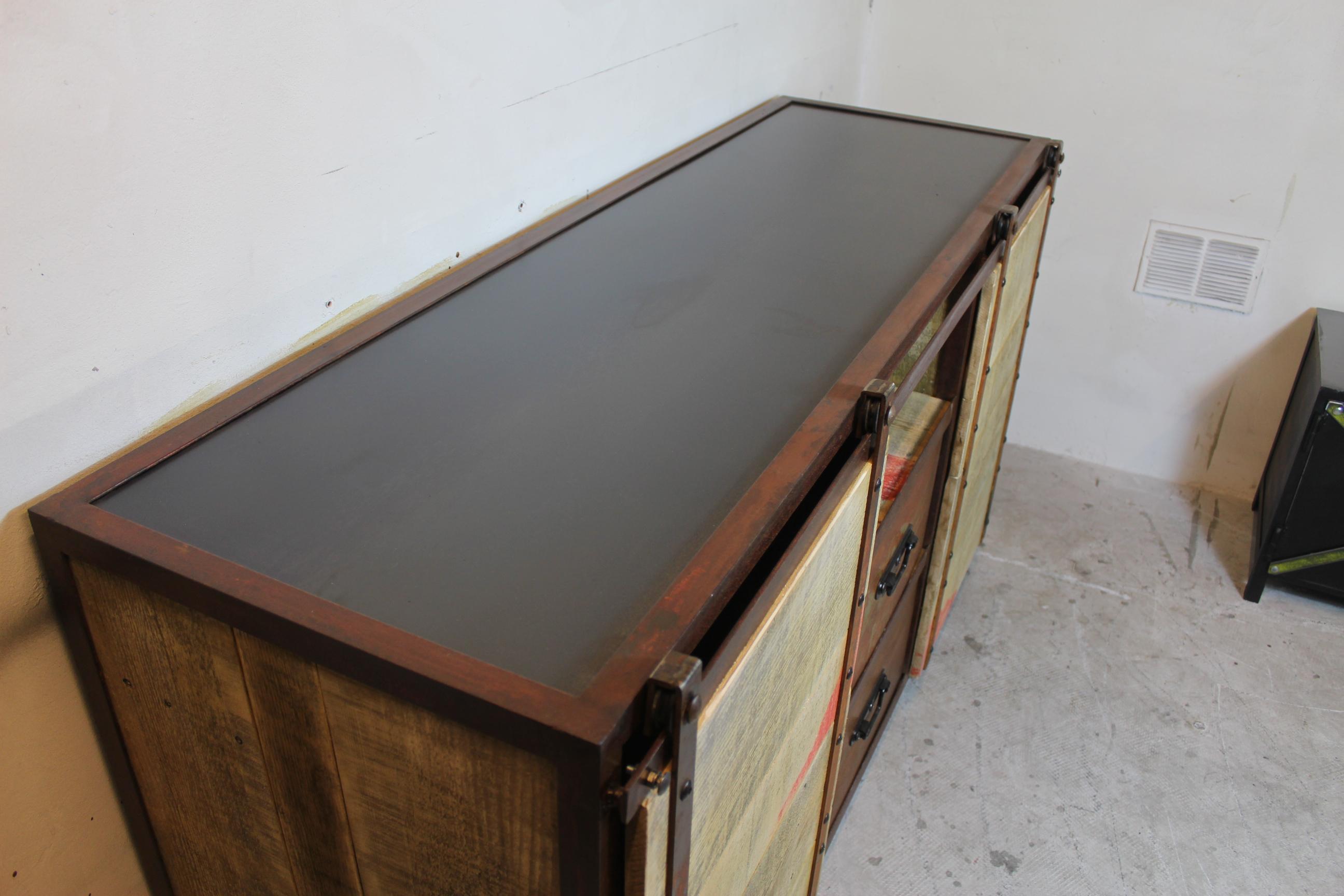 Buffet Rouille 03 Loft Industeel # Meuble Tv Rouille